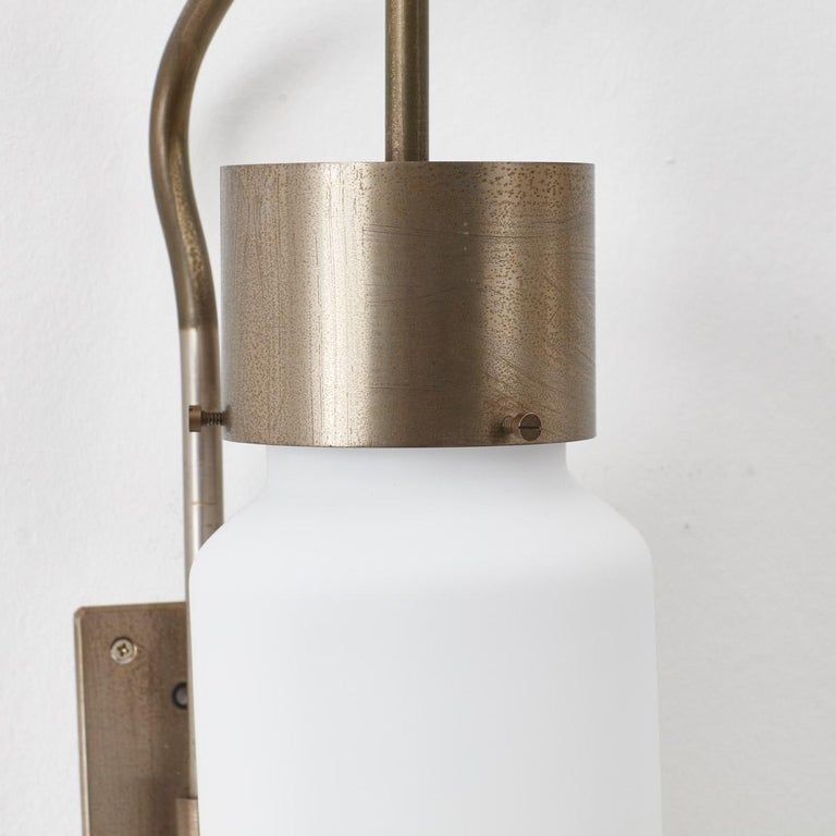 Mid-20th Century Pair of Bidone Wall Lights by Luigi Caccia Dominioni for Azucena, Italy