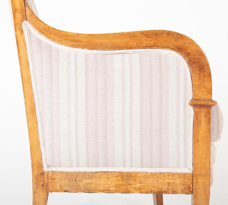 Pair of Biedermeier Armchairs For Sale 8
