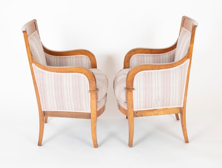 Pair of Biedermeier Armchairs In Good Condition For Sale In Stamford, CT