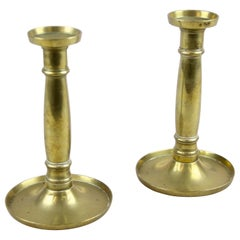 Pair of Biedermeier Brass Candlesticks 19th Century, Austria, circa 1830