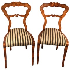 Pair of Biedermeier Chairs, 1820, Danhauser Style