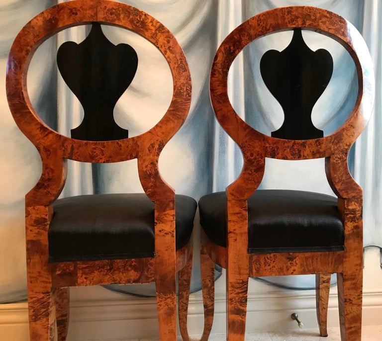 Pair of Biedermeier Chairs, Baltic States 1810-20 In Good Condition For Sale In Belmont, MA