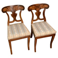 Pair of Biedermeier chairs, South West Germany, 1820