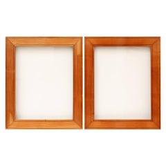 Pair of Biedermeier Cherrywood Picture Frames