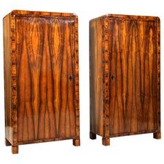 "Pair of Biedermeier ""Prague"" Cabinets, CZ, circa 1825"