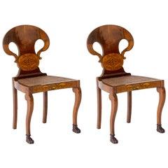 Pair of Biedermeier Shovel Chairs, Italy, circa 1830