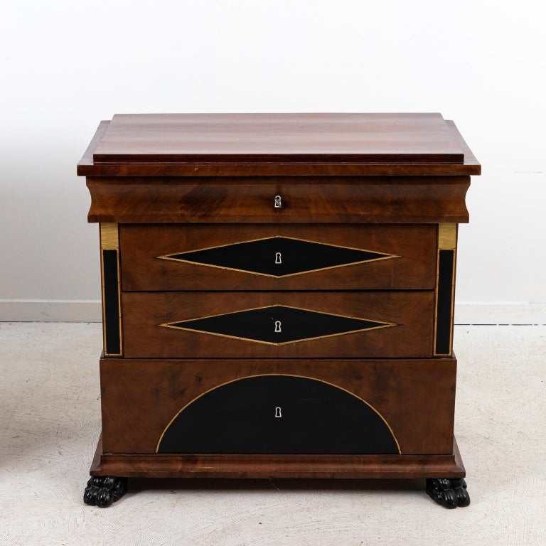20th Century Pair of Biedermeier Style Chest of Drawers For Sale