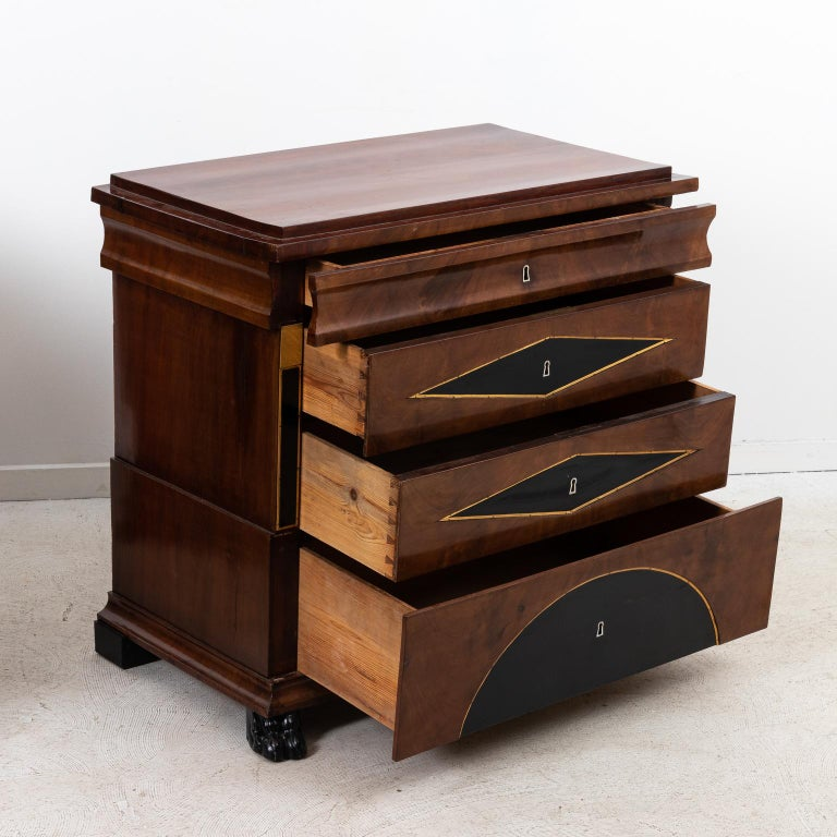 Pair of Biedermeier Style Chest of Drawers For Sale 2