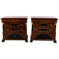 Pair of Biedermeier Style Chest of Drawers