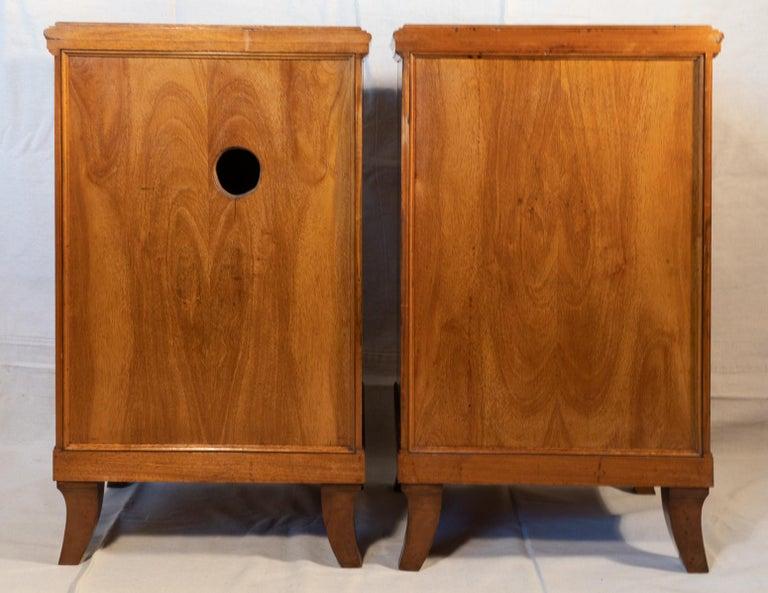 Pair of Biedermeier Style Nightstands, circa 1920 For Sale 3