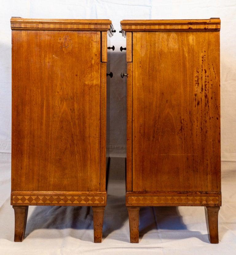 Pair of Biedermeier Style Nightstands, circa 1920 For Sale 1