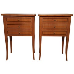 Pair of Biedermeier Style Nightstands or Small Commodes