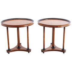 Pair of Biedermeier Style Round Centre Tables