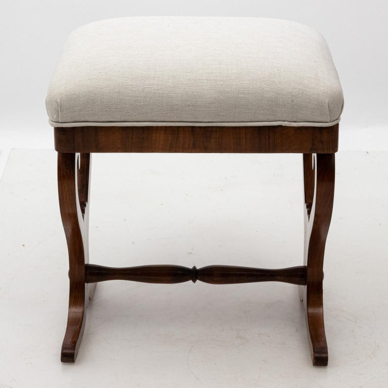 Pair of Biedermeier Upholstered Benches  In Good Condition For Sale In Stamford, CT
