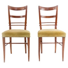 Pair of Biedermier Ladder Back Side Chairs