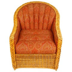 Pair of Bielecky Wicker Armchairs