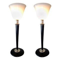 Pair of Big French Art Deco Table Lamp by Mazda