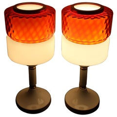 Pair of Big Table Lamps, 1960s