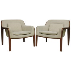 Pair of Bill Stephens Mid-Century Modern Bentwood Lounge Chairs for Knoll