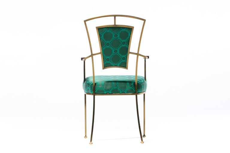 Pair of Billy Haines Style Hollywood Regency Armchairs in Tony Duquette Fabric For Sale 5