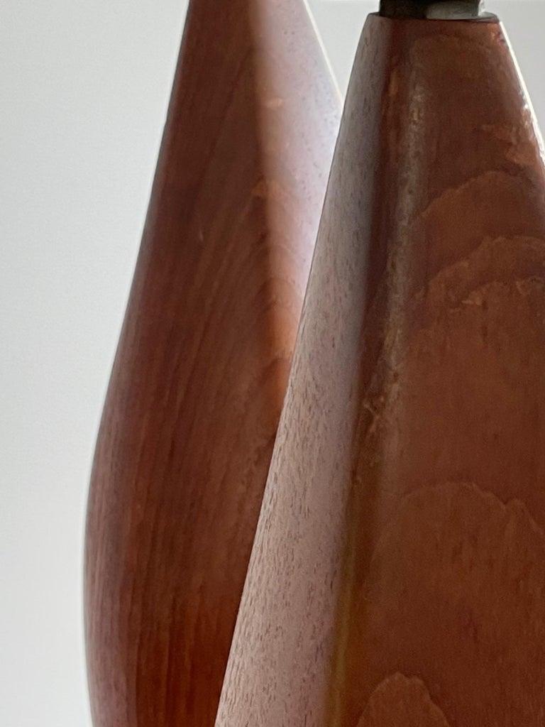 Pair of Biomorphic Danish Teak Lamps by Ernst Henriksen For Sale 9