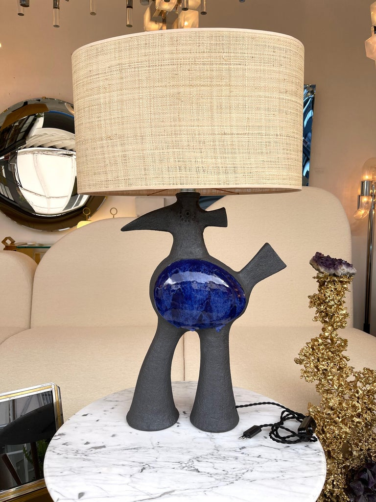 Pair of Bird Ceramic Lamps by Dominique Pouchain, France, 2020 For Sale 6