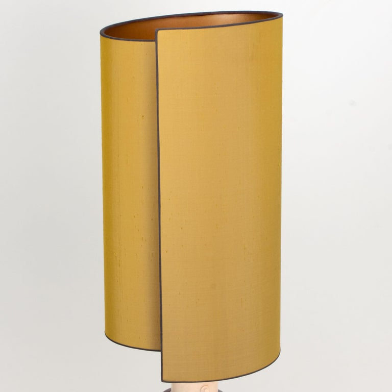 Pair of Bitossi Lamps for Bergboms, with Custom Made Shades by Rene Houben For Sale 6