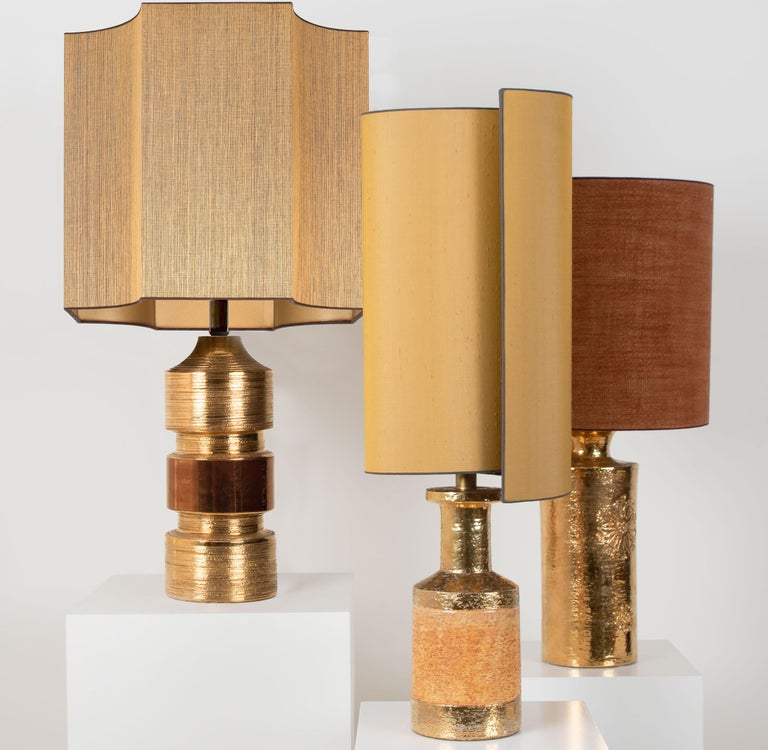 Pair of Bitossi Lamps for Bergboms, with Custom Made Shades by Rene Houben For Sale 8