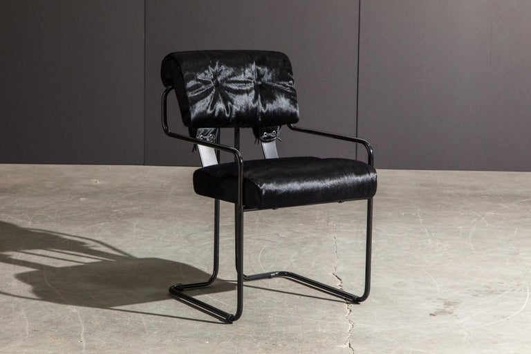 Italian Pair of Black Cowhide 'Tucroma' Armchairs by Guido Faleschini for Mariani, New