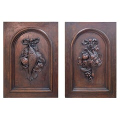 Pair of Black Forest Style Wall Plaques Circa 1880