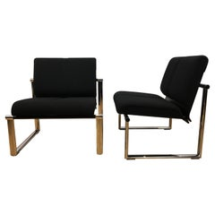 Pair of Black Giroflex Armchairs, Club Chairs by Albert Stohl, AG 1980s