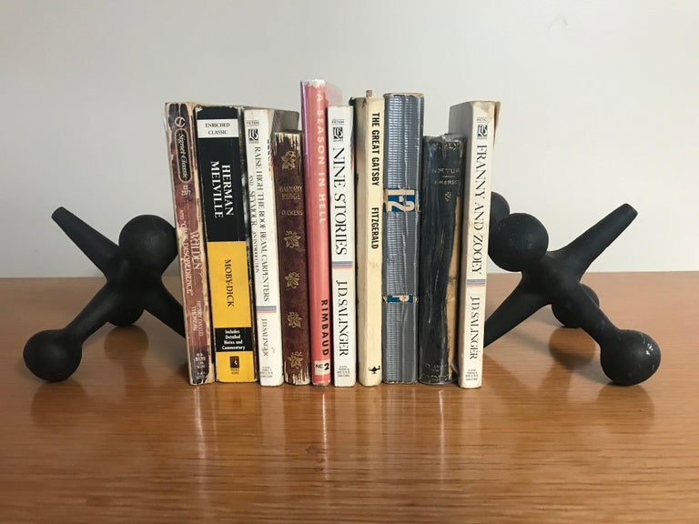 Nice vintage set of jacks bookends by Bill Curry for Design Line, circa 1960s. Some marks/paint loss - wear - see pictures. Sold as a set.