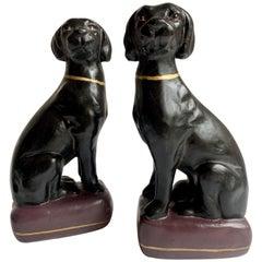 Pair of Black Labrador Retriever Bookends