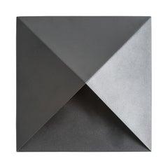 Pair of Black Matt Lacquer Design Wall Lights