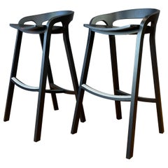 "Pair of Black ""She Said"" Stools, Nitzan Cohen for Mattiazzi, Italy"
