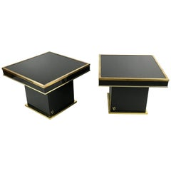 1970s Eric Maville Pair of Side Tables for Maison Romeo France