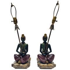 Pair of Midcentury Moorish Table Lamps