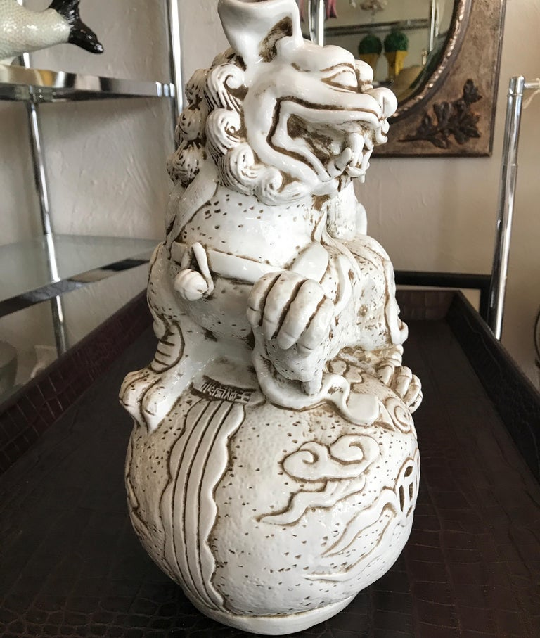 Pair of Blanc de Chine Chinese Foo Dogs For Sale 4