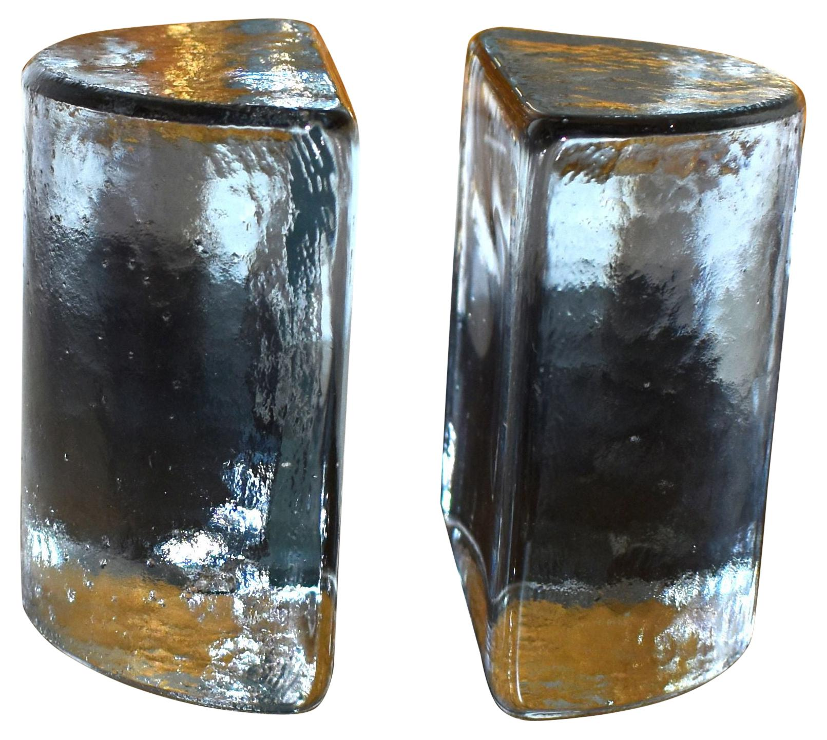 Pair of Blenko Glass Bookends