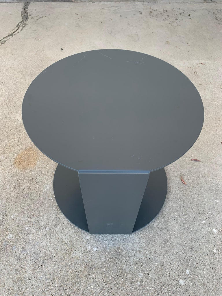 Italian Pair of Blog Side Tables Made in Italy by Verzelloni For Sale