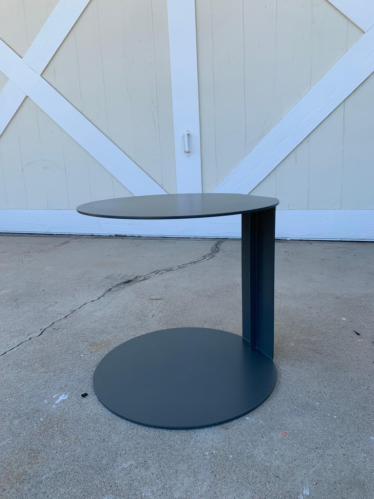 Powder-Coated Pair of Blog Side Tables Made in Italy by Verzelloni For Sale