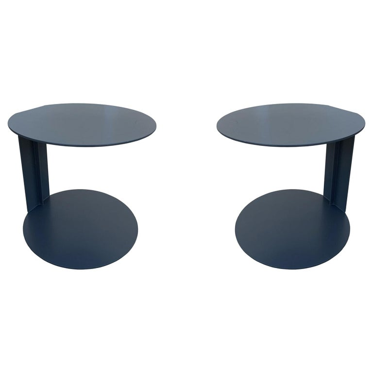 Pair of Blog Side Tables Made in Italy by Verzelloni For Sale