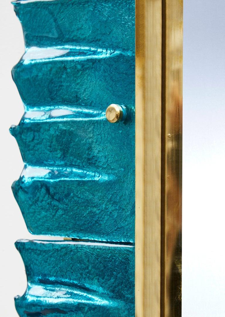Pair of Blue Mirrors by Studio Glustin In Excellent Condition For Sale In Saint-Ouen (PARIS), FR