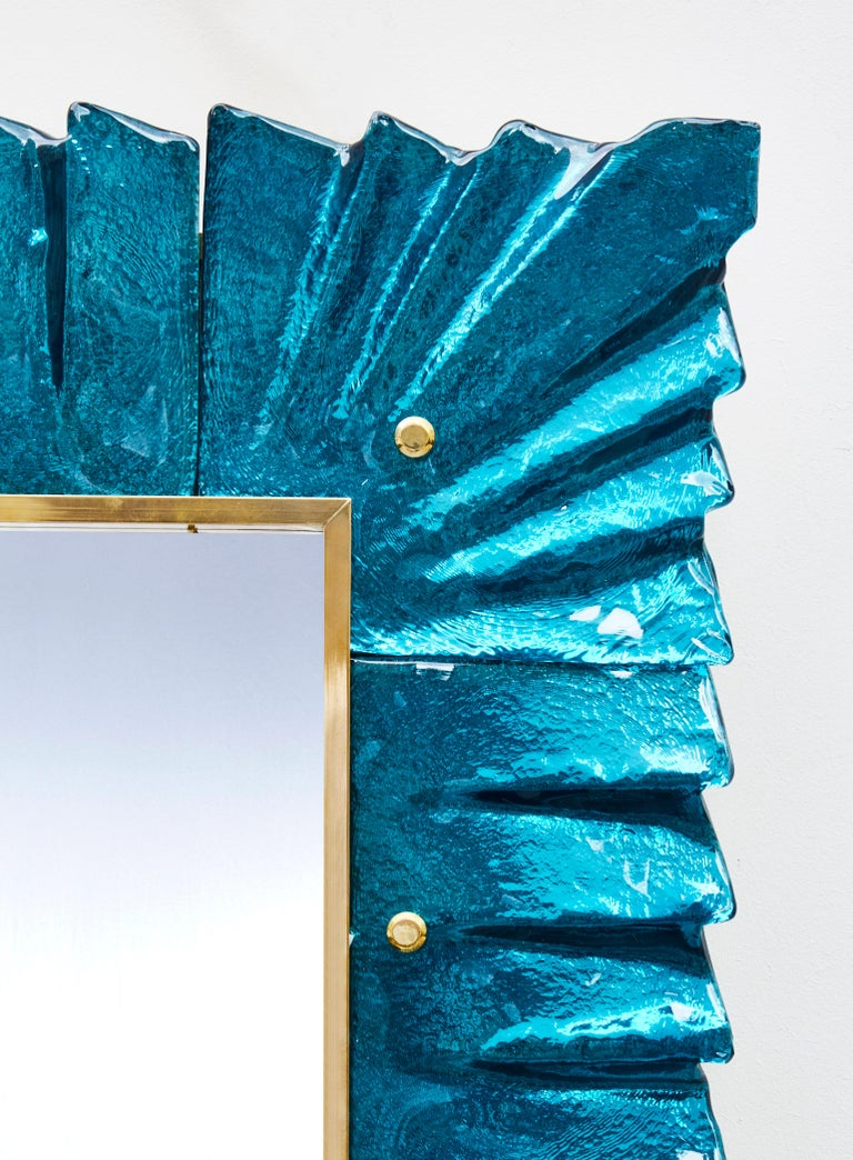 Contemporary Pair of Blue Mirrors by Studio Glustin For Sale
