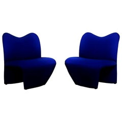Pair of Blue Sculptural Pop Art Chairs