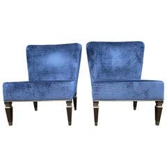 Pair of Blue Velvet Armchairs Heritage, 2020