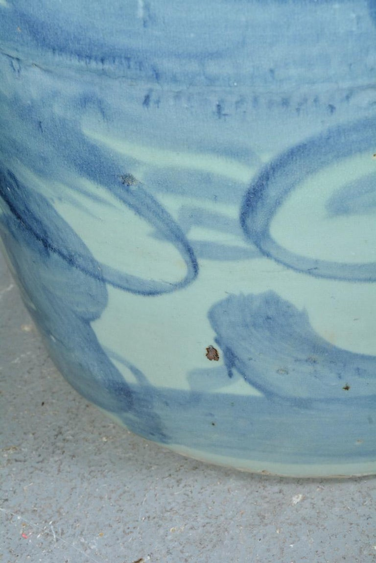 Pair of Blue White Chinese Garden Seats For Sale 1