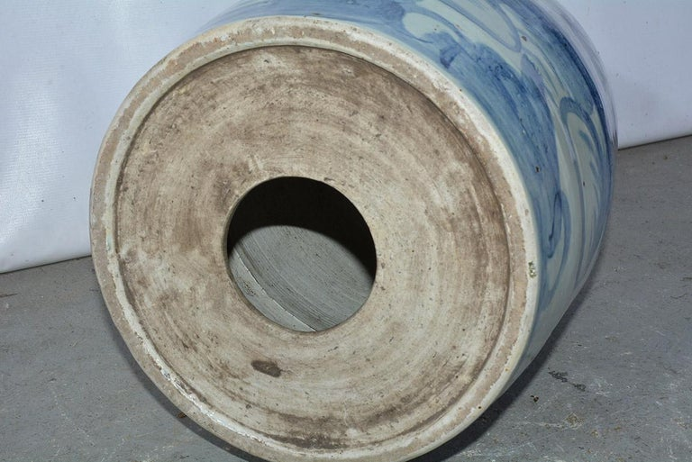 Pair of Blue White Chinese Garden Seats For Sale 3