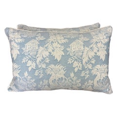Pair of Blue & White Chinoiserie Style Fortuny Pillows