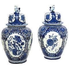 Pair of Boch Royal Delft Ginger Jars